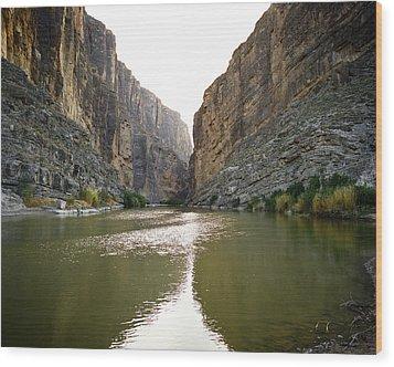 Big Bend Rio Grand River Wood Print by M K  Miller