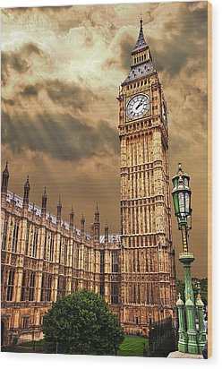 Big Ben's House Wood Print by Meirion Matthias