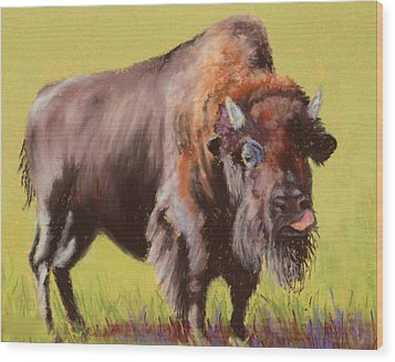Wood Print featuring the painting Big Boy by Nancy Jolley