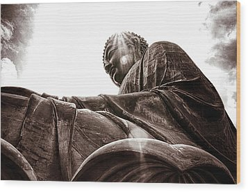 Big Buddha Wood Print