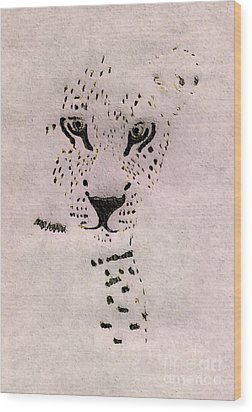 Big Cat Wood Print