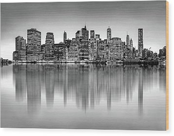 Wood Print featuring the photograph Big City Reflections by Az Jackson