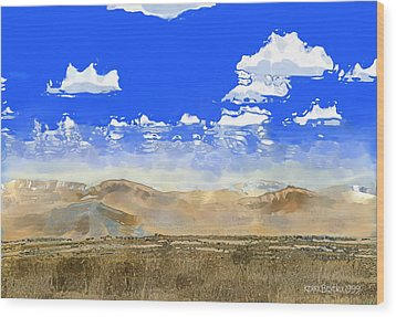 Wood Print featuring the digital art Big Country by Kerry Beverly