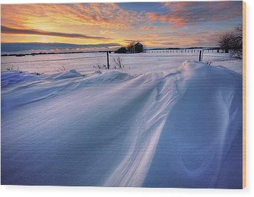 Wood Print featuring the photograph Big Drifts by Dan Jurak