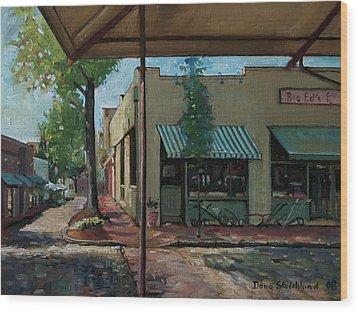 Big Eds Cafe Raleigh Nc Wood Print by Doug Strickland