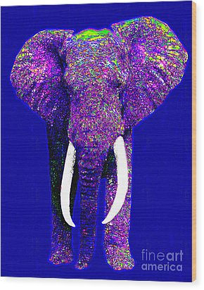 Big Elephant 20130201m118 Wood Print by Wingsdomain Art and Photography