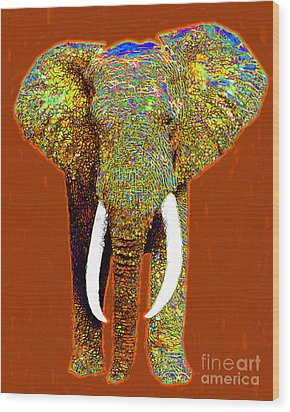 Big Elephant 20130201p20 Wood Print by Wingsdomain Art and Photography