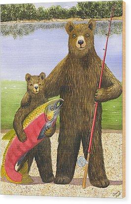 Big Fish Wood Print by Catherine G McElroy