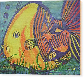 Wood Print featuring the painting Big Fish In A Small Pond by Lee Nixon
