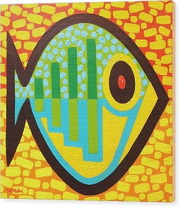 Big Fish Wood Print by John  Nolan
