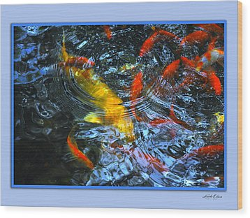 Wood Print featuring the photograph Big Fish Little Fish by Linda Olsen