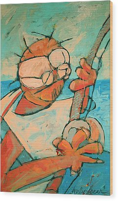 Big Game Sport Fishing Wood Print by Charlie Spear