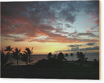 Wood Print featuring the photograph Big Island Sunset #2 by Anthony Jones