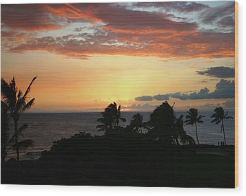 Wood Print featuring the photograph Big Island Sunset by Anthony Jones