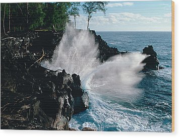 Big Island Waves Wood Print