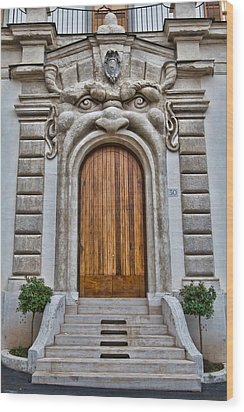 Wood Print featuring the photograph Big Mouth Door by Kim Wilson