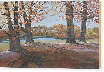 Big Oaks In Fall Wood Print by Werner Pipkorn