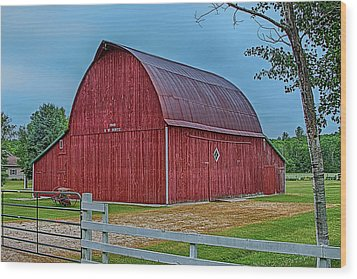 Wood Print featuring the photograph Big Red Barn At Cross Village by Bill Gallagher