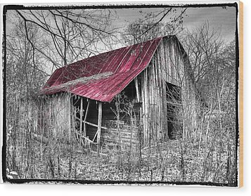 Big Red Wood Print by Debra and Dave Vanderlaan