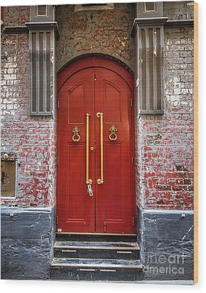 Wood Print featuring the photograph Big Red Doors by Perry Webster