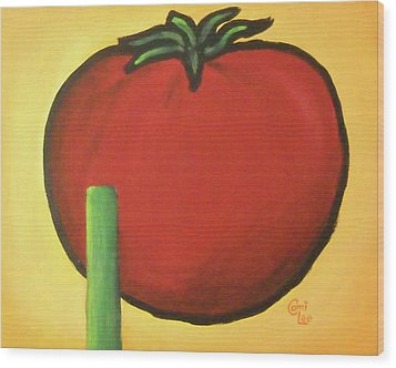 Big Red Tomato Wood Print