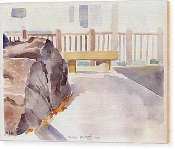 Big Rock 1 Wood Print by Linda Berkowitz