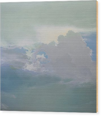 Wood Print featuring the painting Big Sky 2 by Cap Pannell