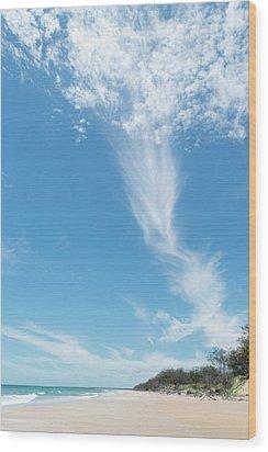Big Sky Beach Wood Print