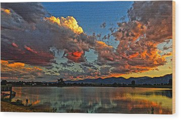Wood Print featuring the photograph Big Sky by Eric Dee