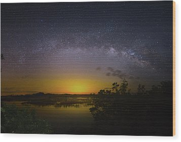 Big Sky Galaxy Wood Print