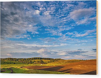 Big Sky Ontario Wood Print by Steve Harrington