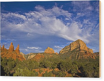 Big Sky Red Earth Wood Print