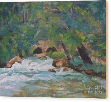 Big Spring On The Current River Wood Print by Jan Bennicoff