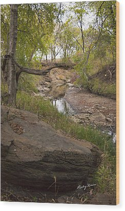 Big Stone Creek Wood Print