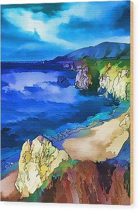 Big Sur Coast Wood Print by ABeautifulSky Photography
