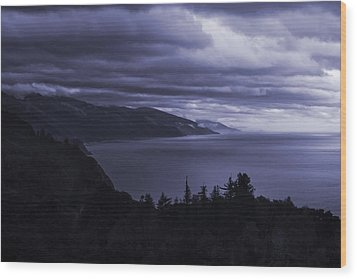 Big Sur Storm Wood Print by Matt  Trimble