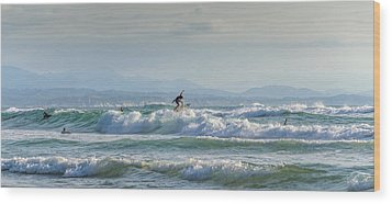 Big Surf Invitational I Wood Print by Thierry Bouriat