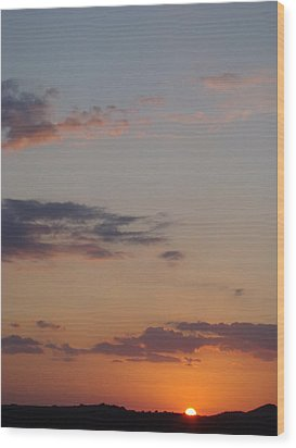 Big Texas Sky Three Wood Print by Ana Villaronga