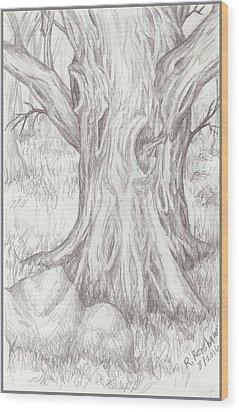 Big Tree Wood Print by Ruth Renshaw