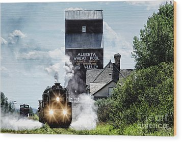 Big Valley Steam Wood Print by Brad Allen Fine Art