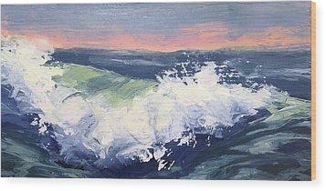 Big Wave #1 Wood Print by Mary Byrom