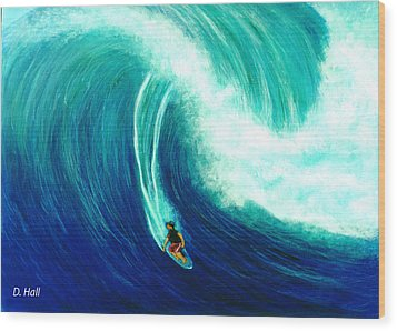 Big Wave North Shore Oahu #285 Wood Print by Donald k Hall