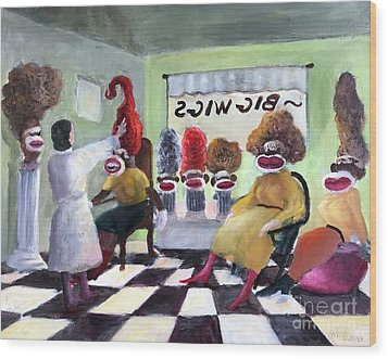 Big Wigs And False Teeth Wood Print by Randy Burns