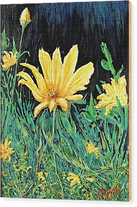 Wood Print featuring the painting Big Yellow by Ian  MacDonald