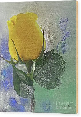 Big Yellow Wood Print by Terry Foster