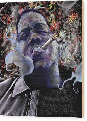 Biggie - Burning Lights 5 Wood Print by Reggie Duffie