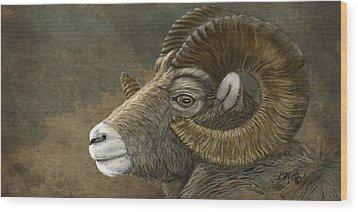 Bighorn Wood Print