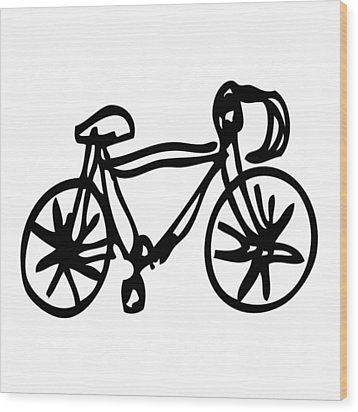 Bike Drawing Wood Print by Karl Addison