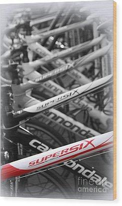 Bike Frames Wood Print