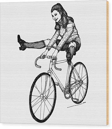 Bike Fun Wood Print by Karl Addison